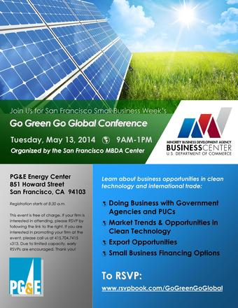 MBDA Go Green Go Global Conference - May 13, 2014